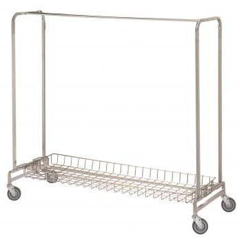 "Basket Shelf For 72"" Single or Double Garment Racks (721, 722)-Norton Supply"