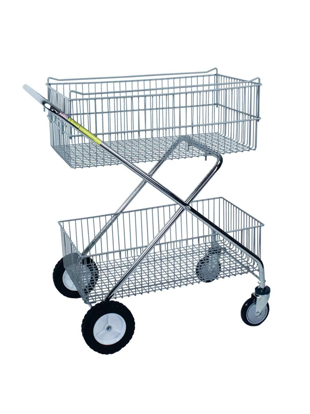 Deluxe Utility Carts | Double Basket Carts | R&B Wire Products ...