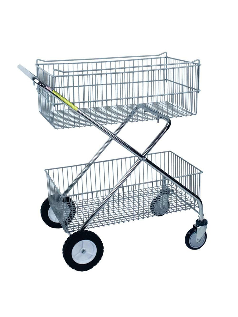 Deluxe Utility Carts Double Basket Carts R Amp B Wire