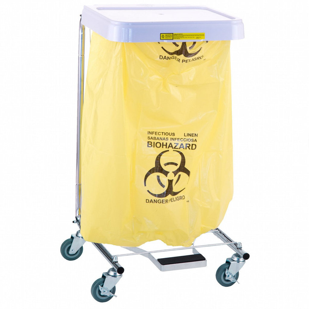 Infectious Linen Disposable Poly-Liner Bag, Yellow-Black Print (200/Case)-Norton Supply