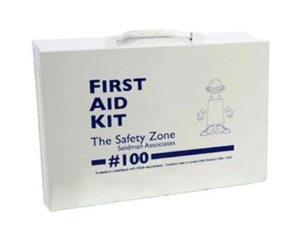 Metal First Aid Kit - 100 Person-Norton Supply