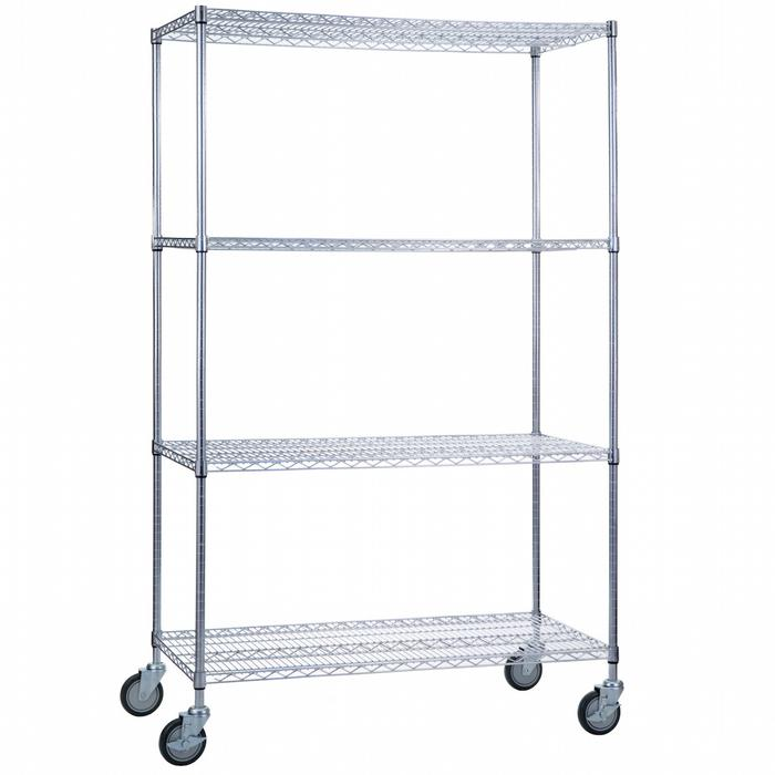 "Linen Cart 24"" With Wire Shelves-Norton Supply"