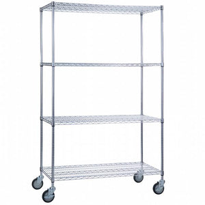 "Linen Cart With Wire Shelves 18""-Norton Supply"