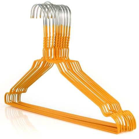 "Galvanized 13-16"" Orange Shirt Hangers,450/cs-Norton Supply"