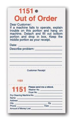Out of Order Cards - (pkg of 50)-Norton Supply