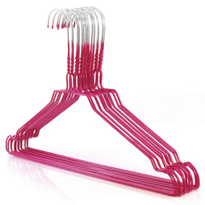 "Galvanized 13-16"" Pink Shirt Hangers,450/cs-Norton Supply"