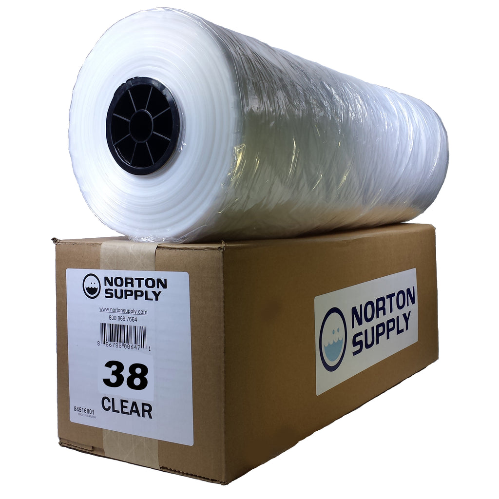 "Norton Supply Dry Cleaning Poly Bags - 38"", 100 Gauge-Norton Supply"