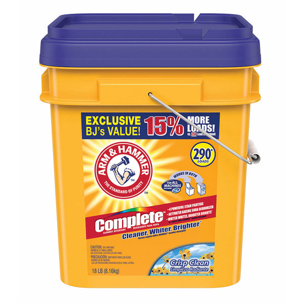 Arm & Hammer Crisp Clean Detergent, 290 Wash Loads-Norton Supply