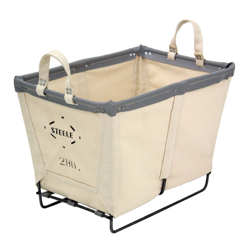 Canvas Small Basket - 2 Bu-Norton Supply