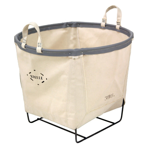 Canvas Round Carry Basket - 3 Bu-Norton Supply
