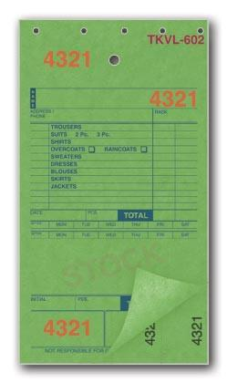 TKVL - 602 Tickvoices - 2 Bond 3 - Part Dry Cleaning Form-Norton Supply