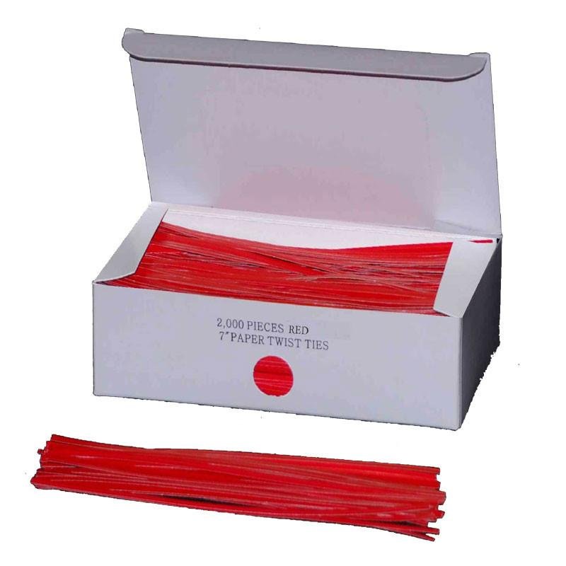 "Twist Ties 7"" Red-Norton Supply"