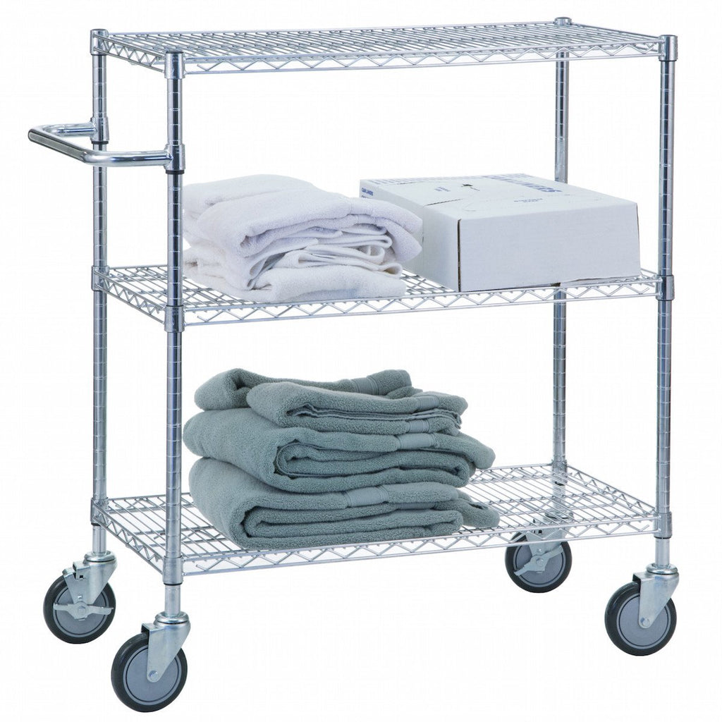 "Triple Shelf Utility Cart 24"" x 36""-Norton Supply"