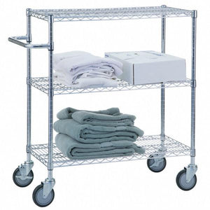 "Triple Shelf Utility Cart 24"" x 48""-Norton Supply"