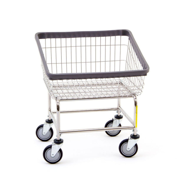 R&B Wire 100T Front Loading Wire Frame Metal Laundry Cart - Chrome-Norton Supply