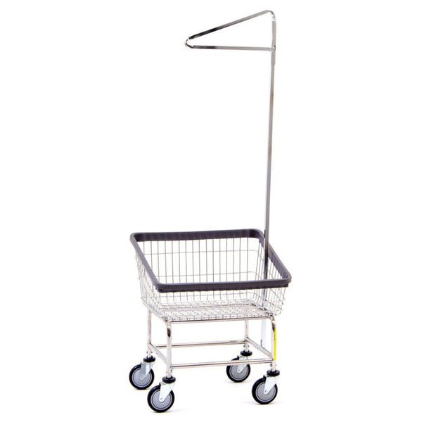 Front Load Laundry Cart w/ Single Pole Rack-Norton Supply
