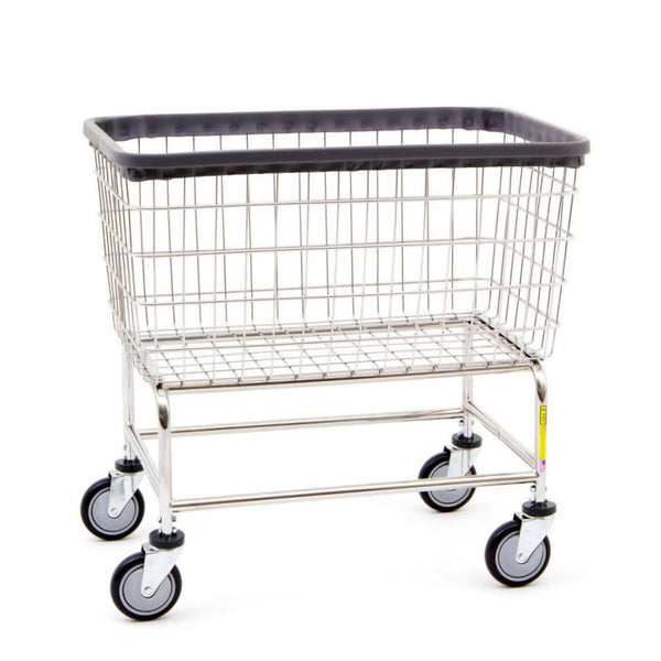 R&B Wire 200F Large Capacity Wire Laundry Cart, 4.5 Bushel, Chrome-Norton Supply