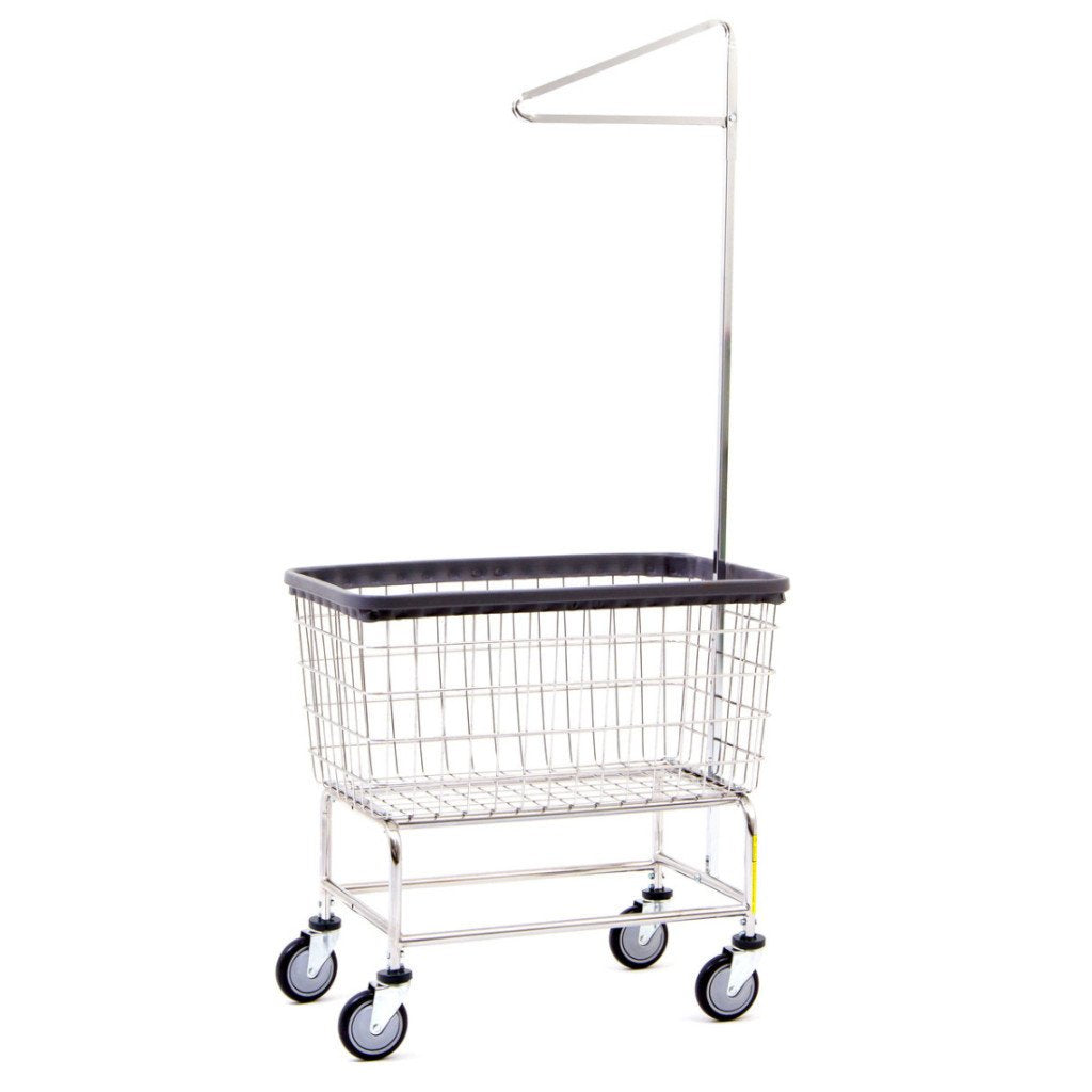 Large Capacity Laundry Cart W/ Single Pole Rack-Norton Supply