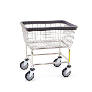 R&B Wire 100D Narrow Wire Laundry Cart, Chrome-Norton Supply