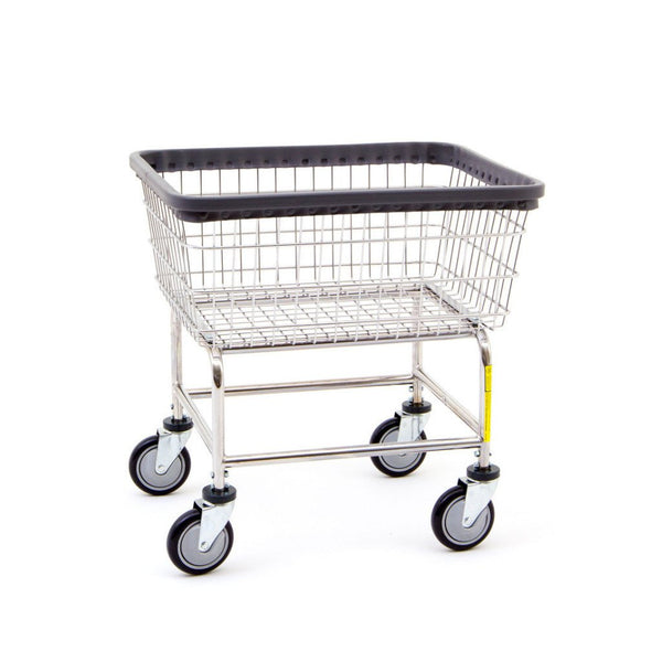 R&B Wire 100E Standard Wire Frame Metal Laundry Cart-Norton Supply