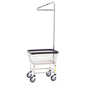 Standard Laundry Cart w/ Single Pole Rack-Norton Supply