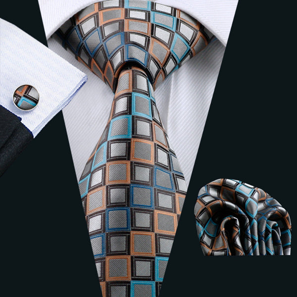 Barry Wang 100% Silk Men's Tie Set