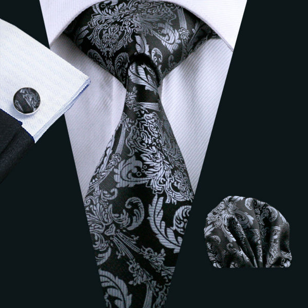 Barry Wang Classic 100% Silk Tie Set