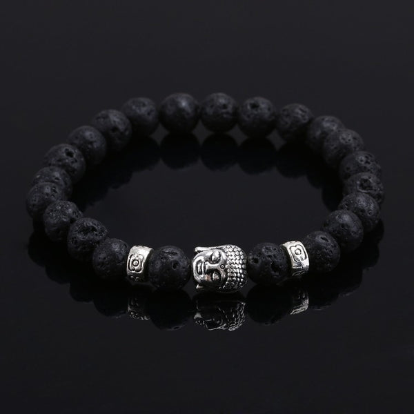 Men's Natural Stone Buddha Bracelet