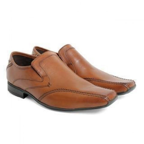 Base London tan leather loafers