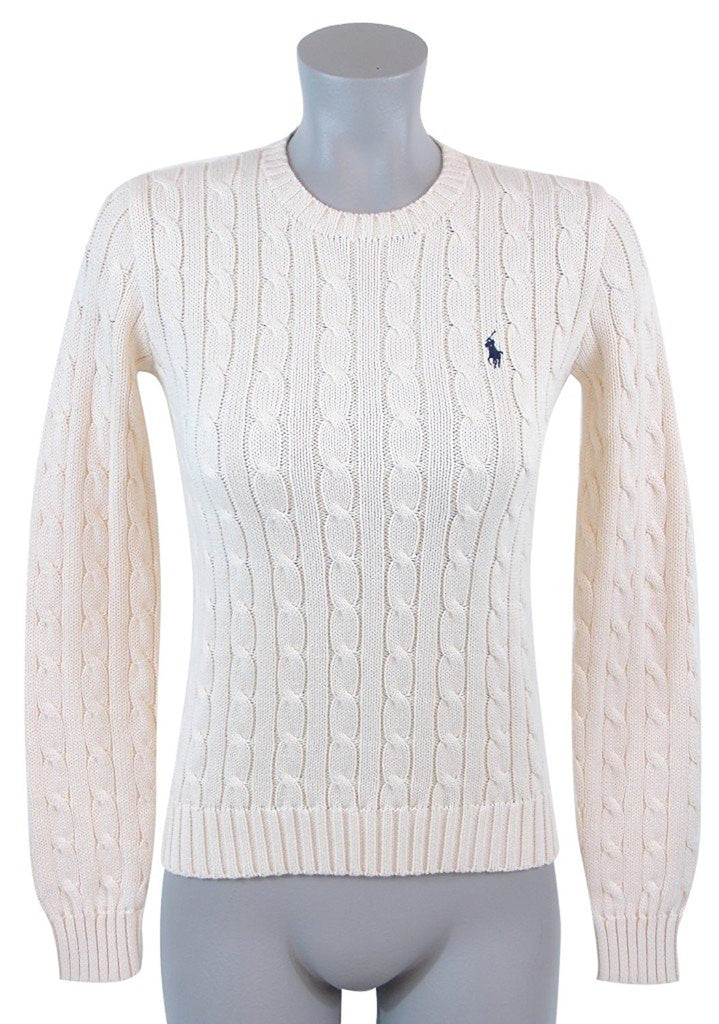 6c8976028e Polo Ralph Lauren Womens Cable Knit Crew Neck Sweater