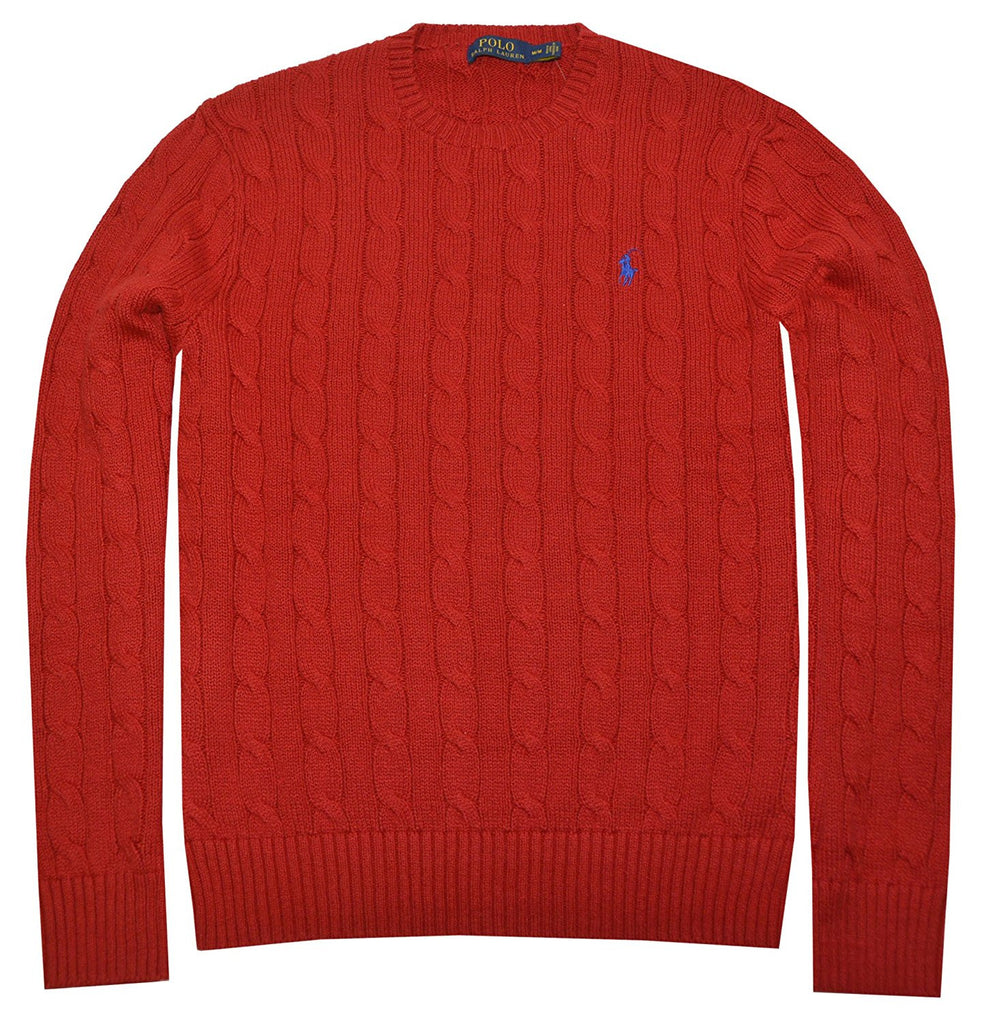 be58cfcc93 Polo Ralph Lauren Men s Pony Cable Knit Crewneck Sweater