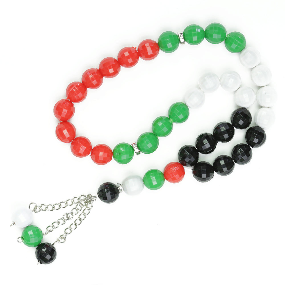 33 BEAD PALESTINE FLAG COLOUR TASBEEH / PRAYER BEADS