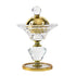 Luxury Crystal Glass Gold Ornament Incense Bukhoor Burner (BB1330C)