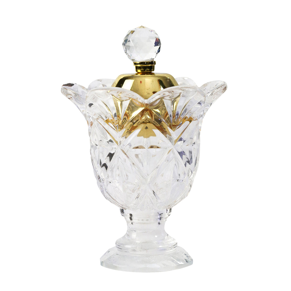 Luxury Crystal Glass Cup Ornament Incense Bukhoor Burner (BF1314)