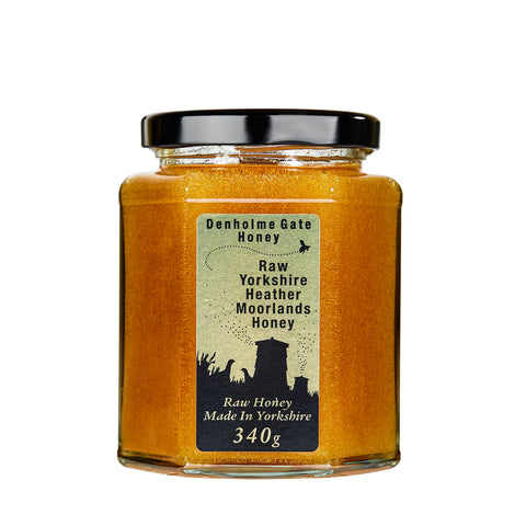 Raw Yorkshire Heather Moorlands Honey 340g