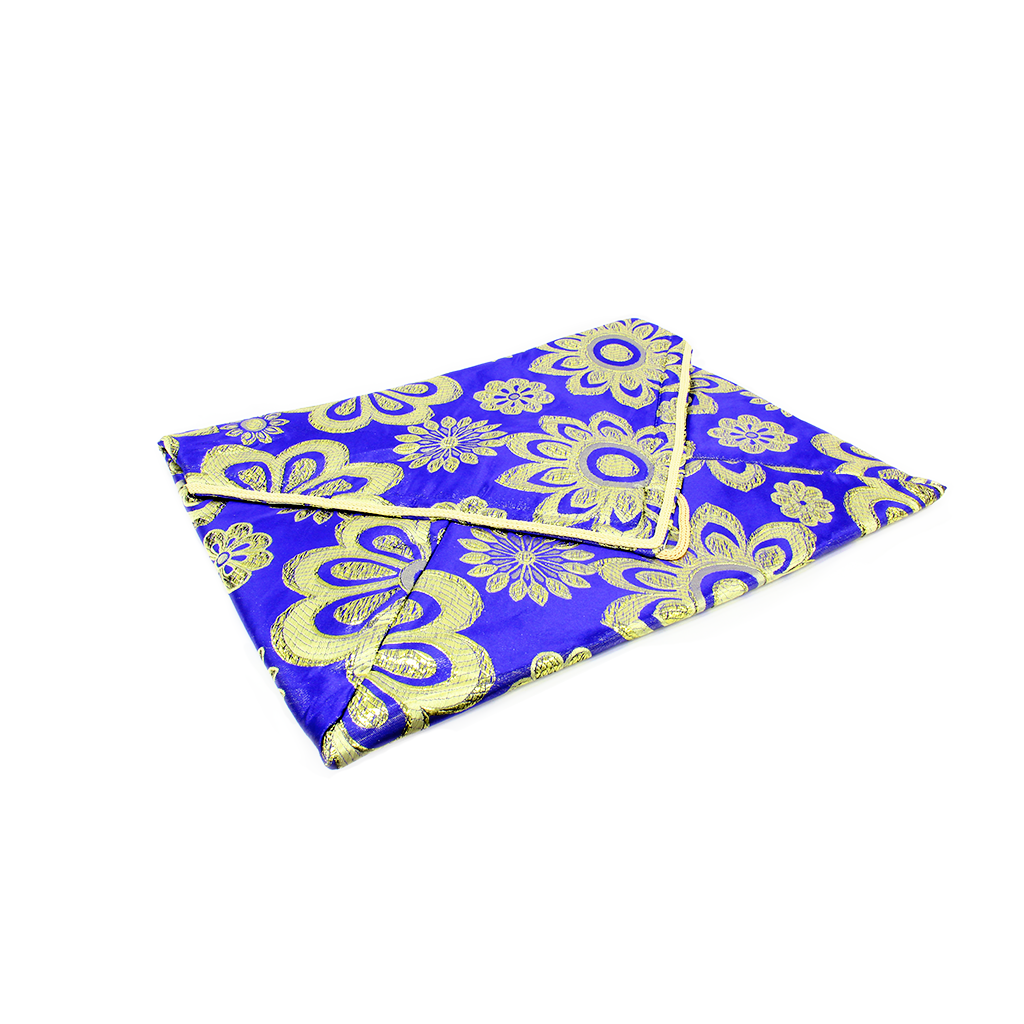 FLORAL PADDED QURAN COVER - BLUE