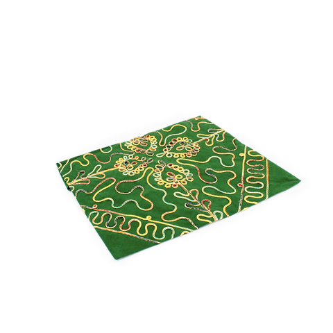 LACE PATTERNED QURAN COVER - GREEN