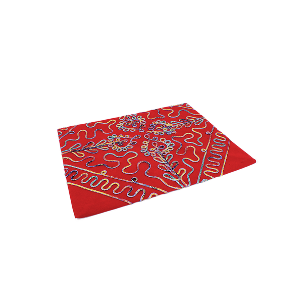 LACE PATTERNED QURAN COVER - RED