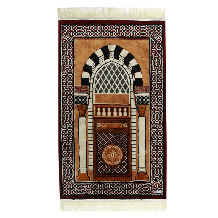 Minwal Prayer Mat made in Madina – Al Haram Gate Orange