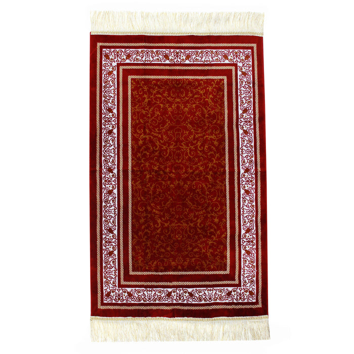 Minwal Prayer Mat made in Madina – Al Seder Red