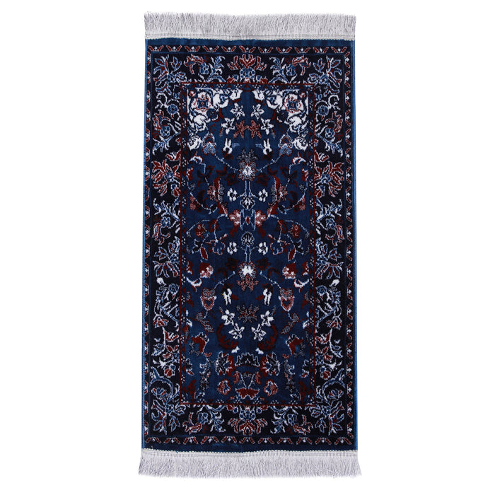 Minwal Haram Kids Prayer Mat made in Madina - Blue/Pink