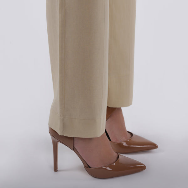 Oaks Plain Cream Pants - Anaya Clothing