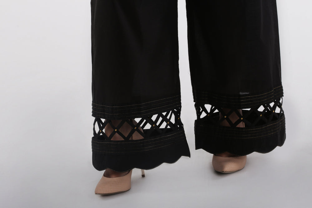 Oaks Black Wide Leg Pants