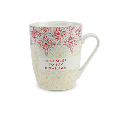Bismillah Red Flourish Islamic Mug