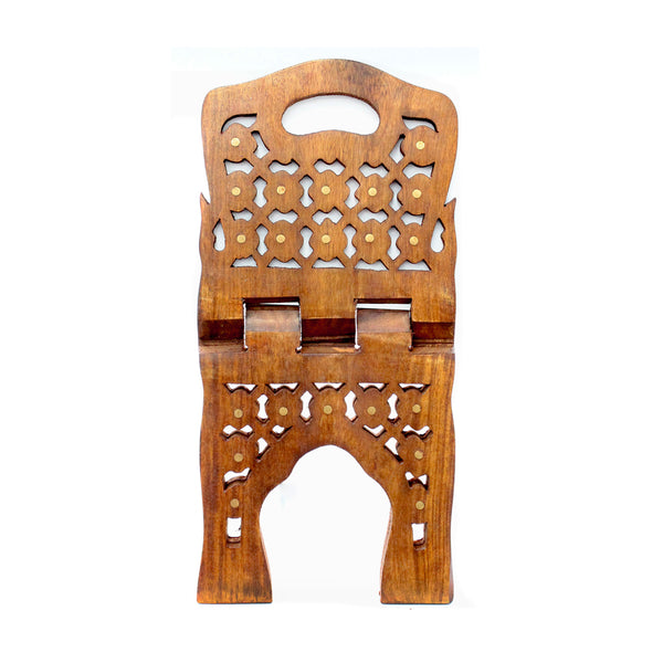 Medium Hand-carved Quran Stand - Rehl