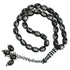 33 BEAD PLASTIC TASBEEH / PRAYER BEADS - BLACK WITH KAABA