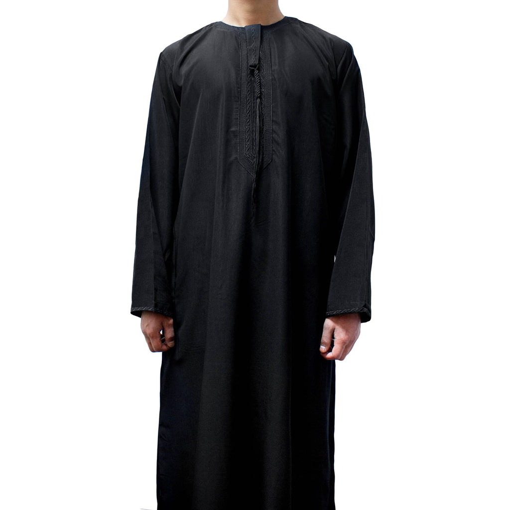 OMANI TASSEL THOBE SAUDI JUBBA FOR BOYS BLACK