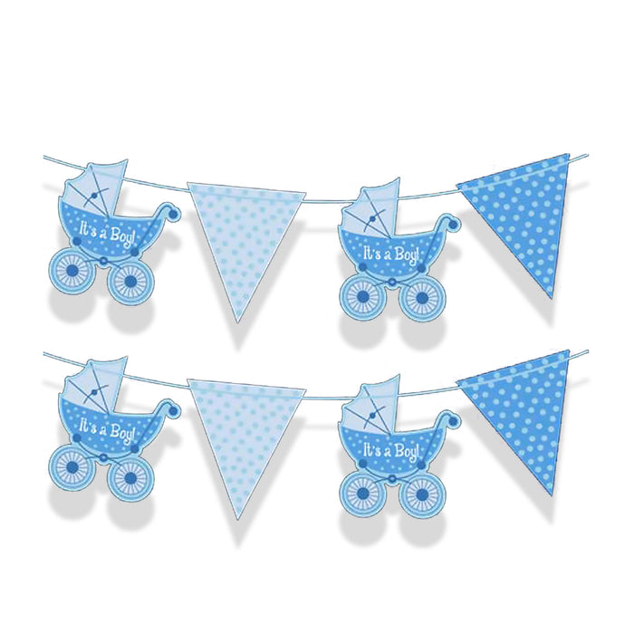 It's A Boy Bunting - 2m Long