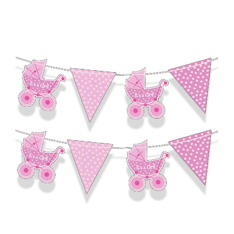 It's A Girl Bunting - 2m Long