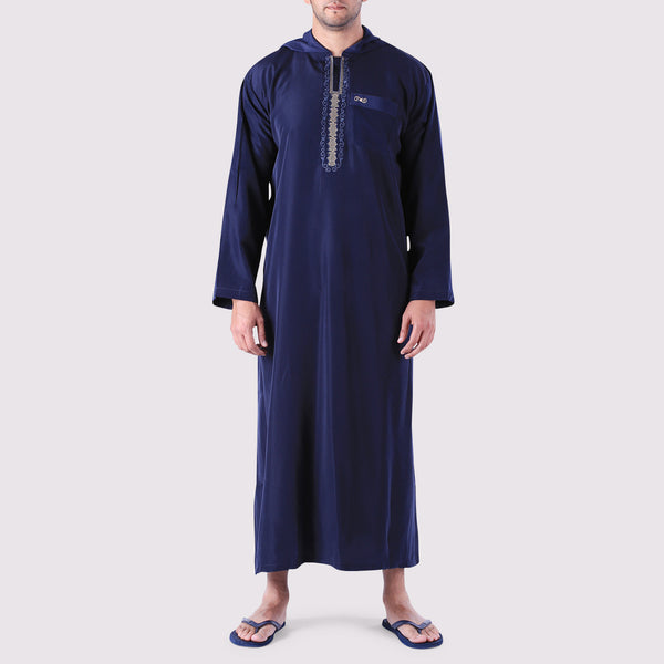 Hooded Thobe Arab Saudi Style Men's Jubba